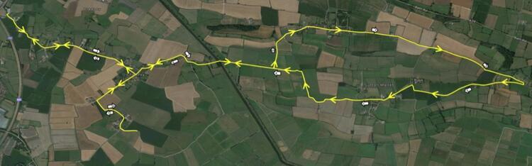 Bridgwater Half Marathon Course Map