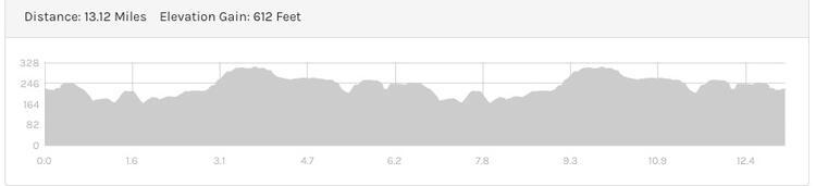 Burnham Beeches Half Marathon Elevation Profile