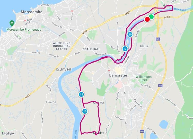 Celebration of Running Half Marathon Course Route