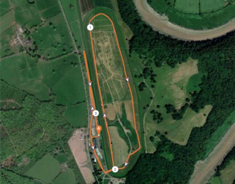 Chepstow Racecourse Half Marathon Route Map