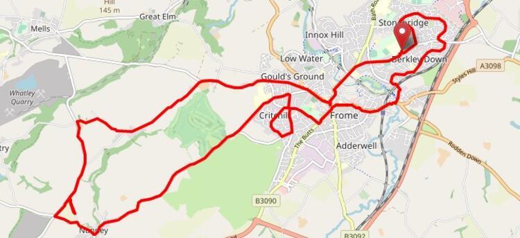 Frome Half Marathon Race Route Map