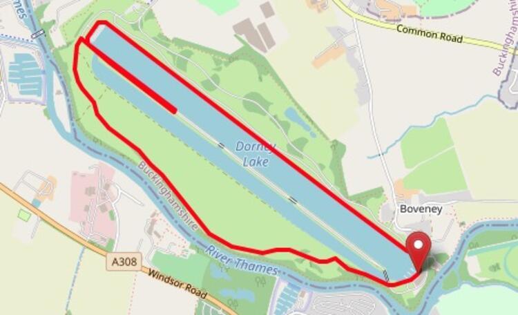 Marathon Prep Race Dorney Lake Course Map