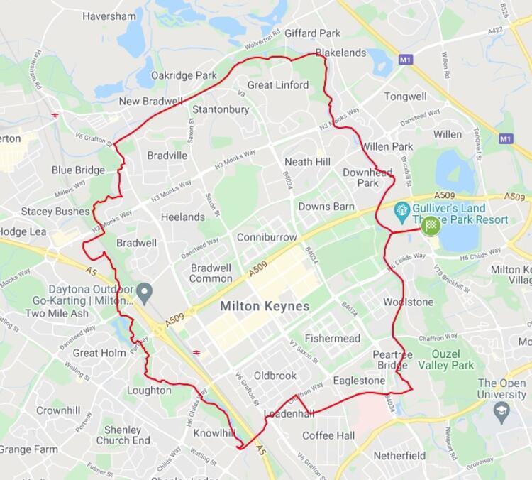 Milton Keynes Winter Half Marathon