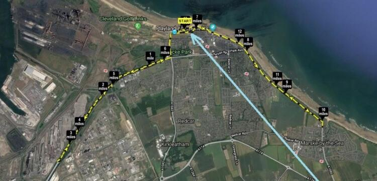 Redcar Half marathon race route map