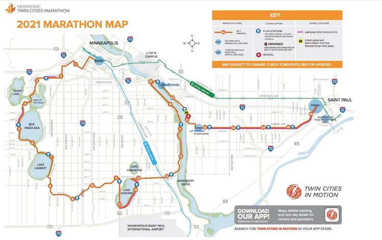 Twin Cities Course Map