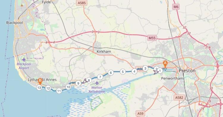 West Coast Half Marathon Race Route Map