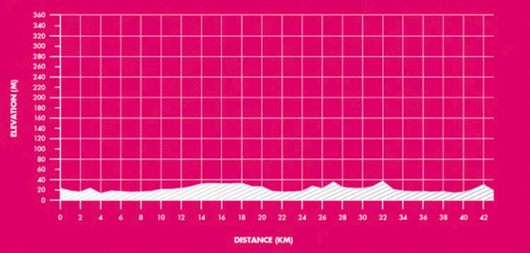 Yorkshire Marathon Elevation Profile
