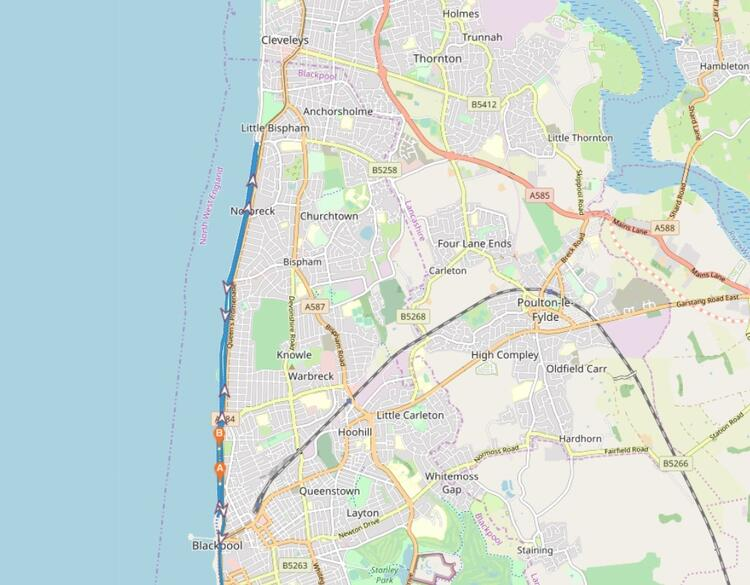Blackpool Marathon Course Map Route
