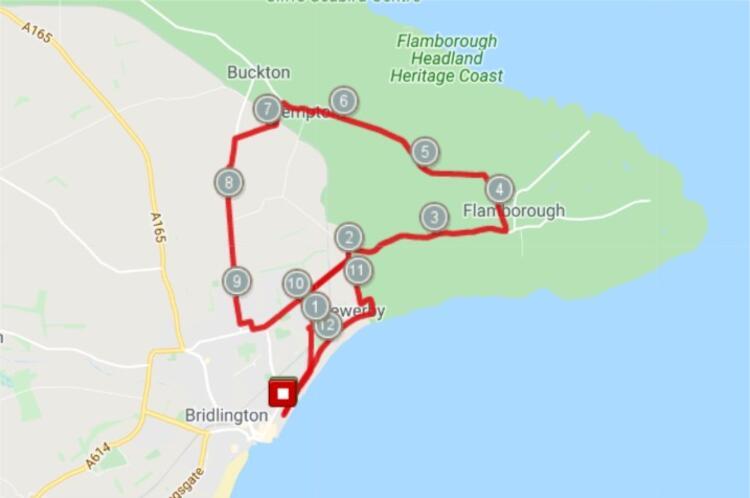 Bridlington half marathon race route