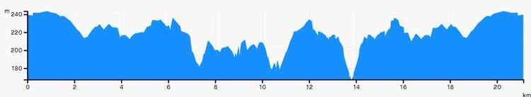 Dunstable Downs Trail Half Marathon Elevation Profile