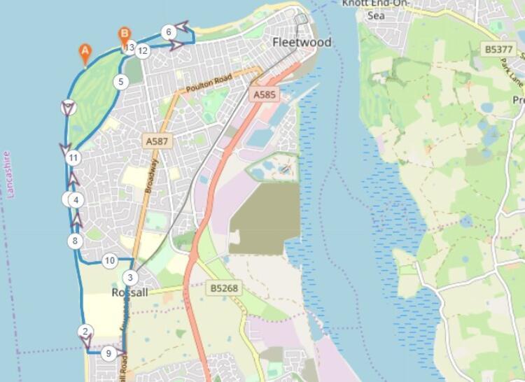 Fleetwood Half Marathon Course Map