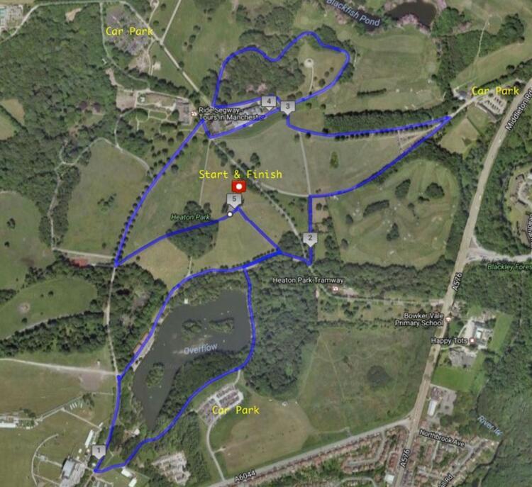 Heaton Park Half Marathon Race Route