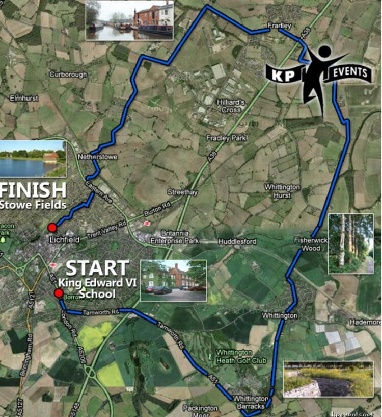 Lichfield Half Marathon Course Route