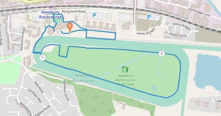 Newbury Racecourse Half Marathon Course Route