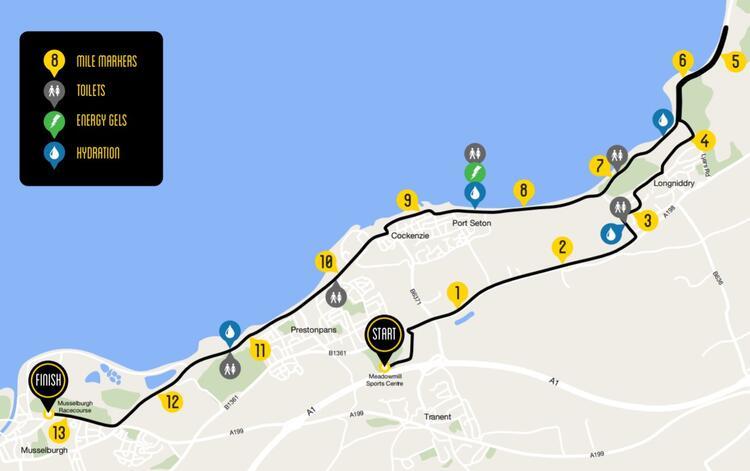 Scottish Half Marathon Route Map
