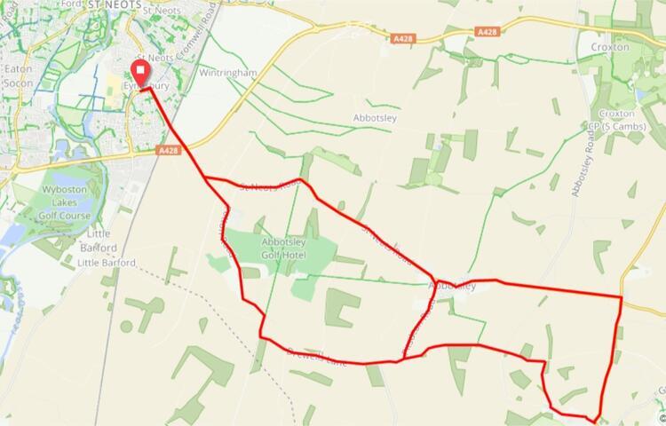 St. Neots Half Marathon Race Route