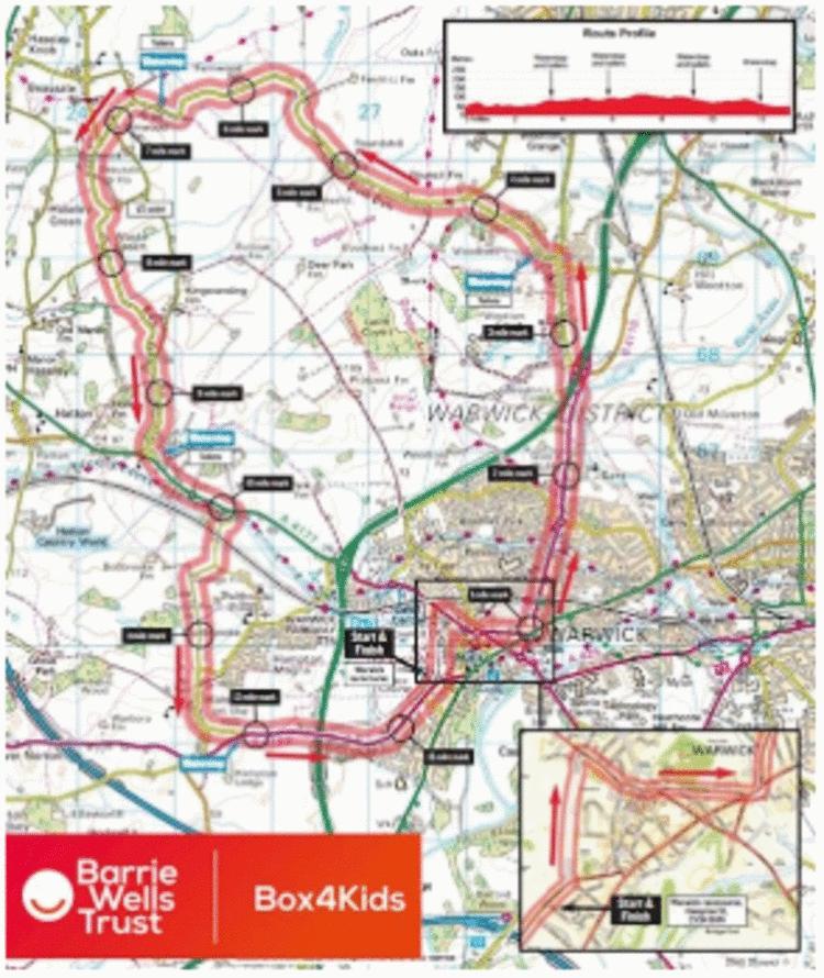 Warwick Half Marathon Elevation and Route